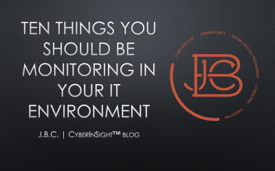 Ten Things You Should Be Monitoring in Your IT Environment