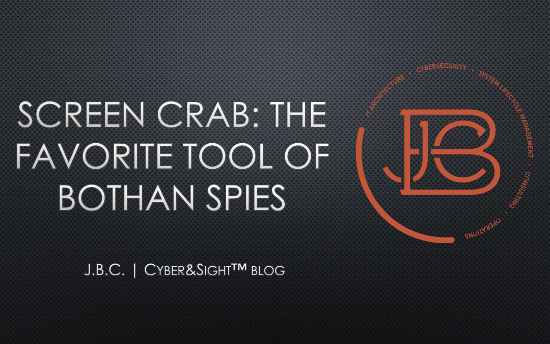 Screen Crab: The Favorite Tool of Bothan Spies