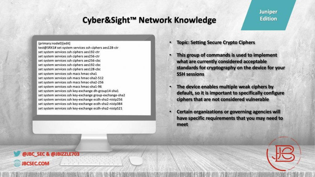 Juniper Secure Crypto Ciphers