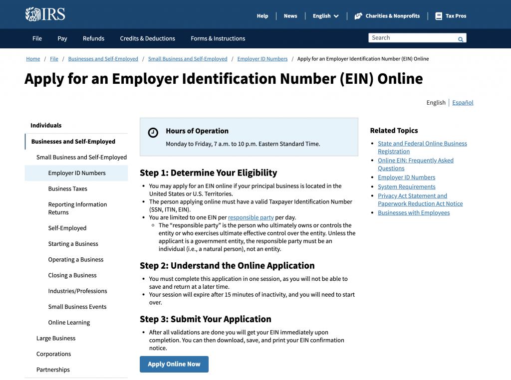 Employer Identification Number (EIN)