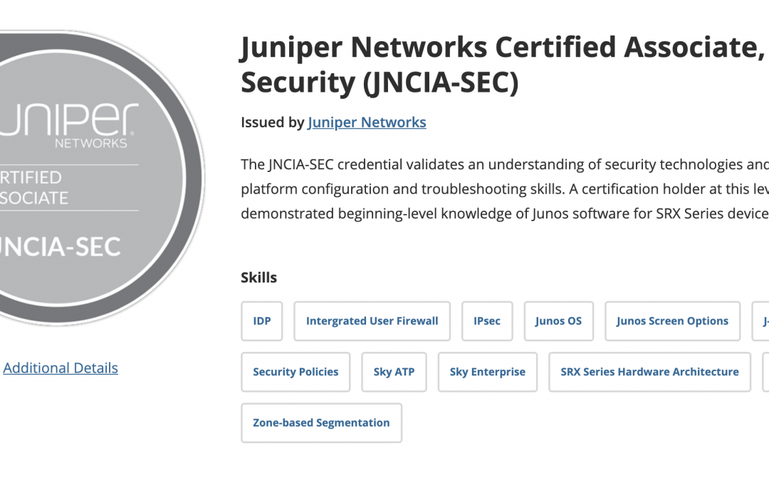 How I Passed the Juniper JNCIA-SEC Exam | JNCIA SEC Review and Study Tips